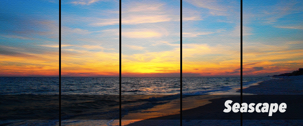 Seascape Canvas Wall Art by PanelWallArt.com