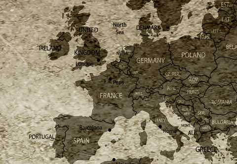 World Map City Names World Map Canvas Panelwallartcom