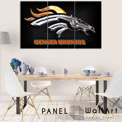 3 pieces Shinny Denver Broncos canvas wall art