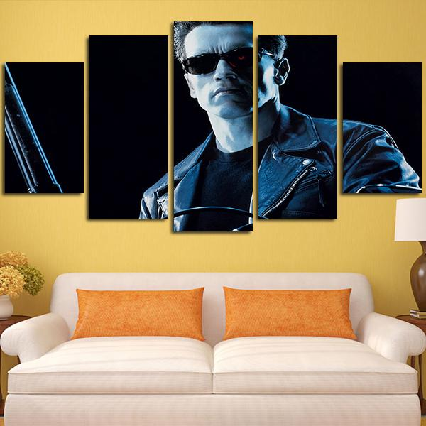 the terminator in darkness canvas wall art print 5 pieces