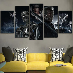 the terminator arnold movie canvas wall art print 5 pieces