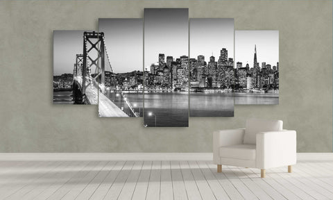 old bay bridge canvas wall art panel wall art