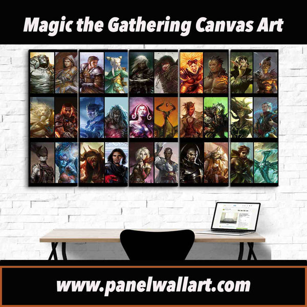 MTG Magic: The Gathering 5 pieces Canvas Wall Art Gift by panelwallart.com