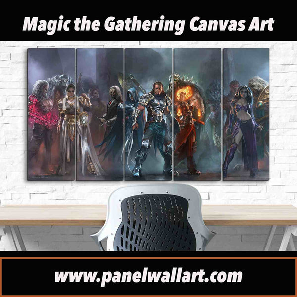 MTG Magic: The Gathering Pro Tour 5 pieces Canvas Wall Art by panelwallart.com