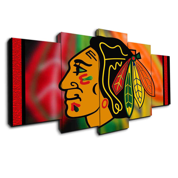 New Chicago blackhawks 5 pieces canvas wall art by panelwallart.com