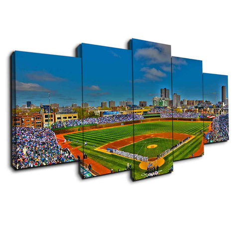 Los Angeles Anaheim Stadium | 5 Panel Canvas Wall Art Prints by Panel Wall Art