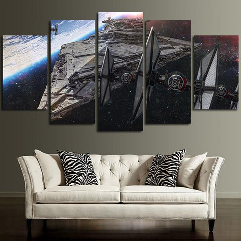 5 pieces star wars star destroyer canvas wall art