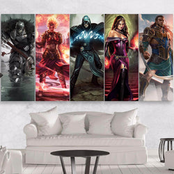 Magic the Gathering 5 pieces canvas wall art 5 panels