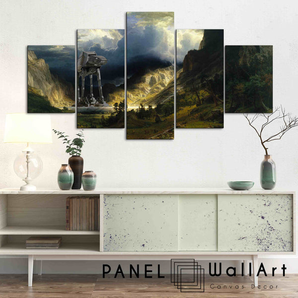 At At Walker The Star Wars Scene | 5 Panel Wall Art Canvas Prints