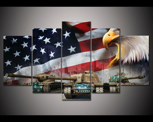 USA Flag - Tank and Eagle