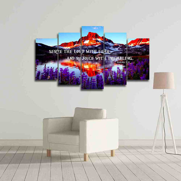 bible verse canvas wall art 5 pieces