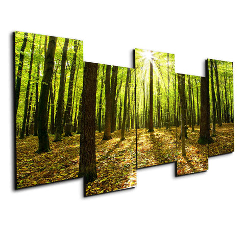 5 panel shine between the woods canvas set