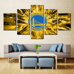 Golden State Warriors Canvas - Framed Unique Home Decor Wall Art