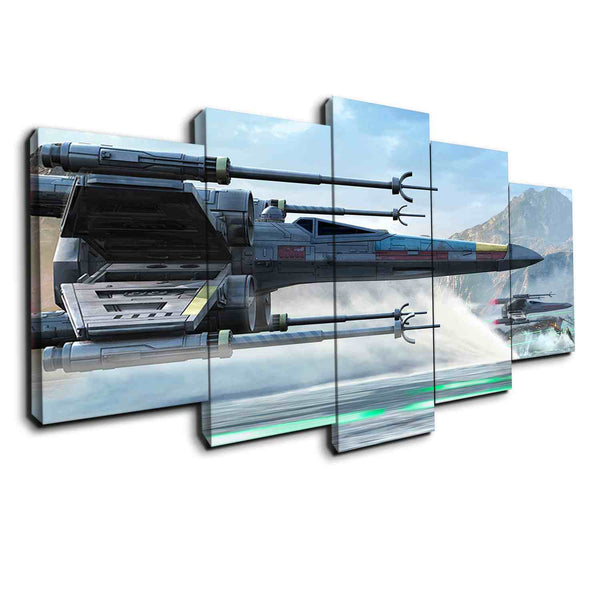 K Miller Fighter Wing canvas set from Star Wars - panelwallart.com