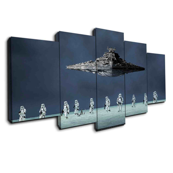 Star Wars Beach Battle | Black Friday Cyber Monday Sale | Panel Wall Art Canvas