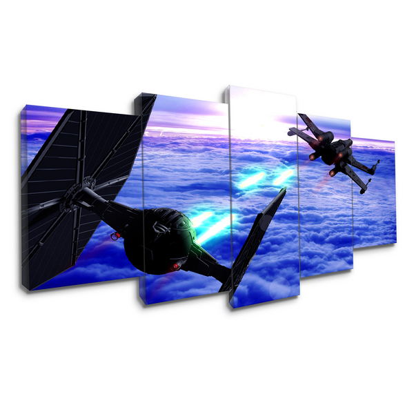 Star Wars Spacecrafts | Black Friday Cyber Monday Sale | Panel Wall Art Canvas