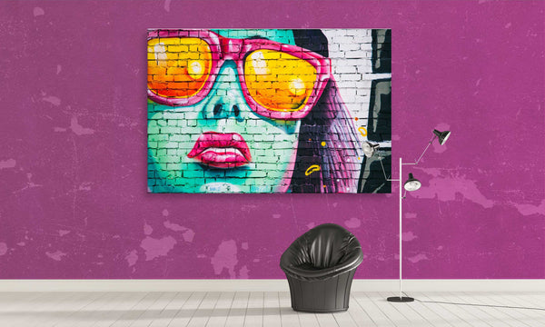 1 panel stylish girl canvas wall art