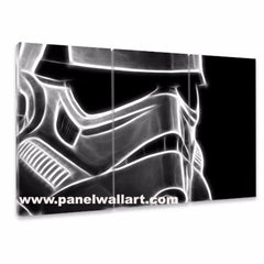 3 panel stormtrooper | Star Wars Canvas Art | Panel Wall Art