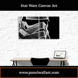 2 panel star wars canvas wall art prints of Smokey Stormtrooper Helmet