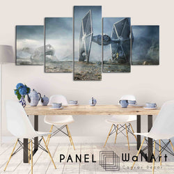 5 pieces star wars the last jedi the fighters canvas wall art panelwallart.com