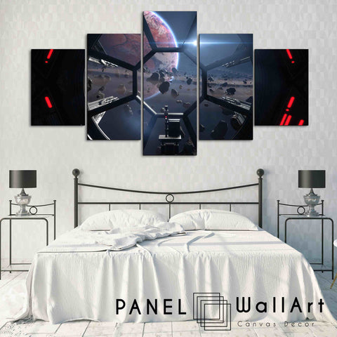 5 pieces star wars the fighters canvas wall art