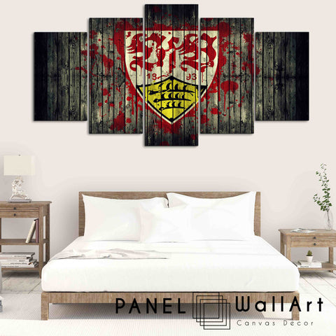 Stuttgate VFB Wood Background canvas wall art