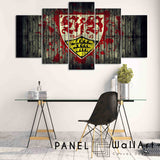 Stuttgate VFB Wood Background canvas wall art 5 pieces