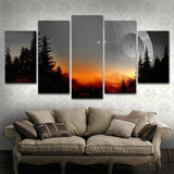 death-star-star-wars 5 pieces canvas wall art prints framed ready to hang free shipping