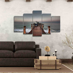 Nice Bridge under a Cloudy Sky | 2017 Christmas Specials Sale | Panel Wall Art Canvas