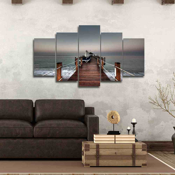 Nice Bridge under a Cloudy Sky | Black Friday Cyber Monday Sale | Panel Wall Art Canvas