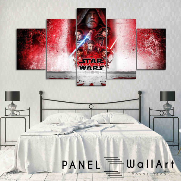 5 pieces star wars the last jedi canvas wall art