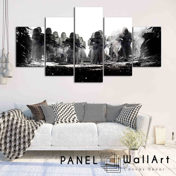 5 pieces star wars the last jedi stormtroopers canvas wall art