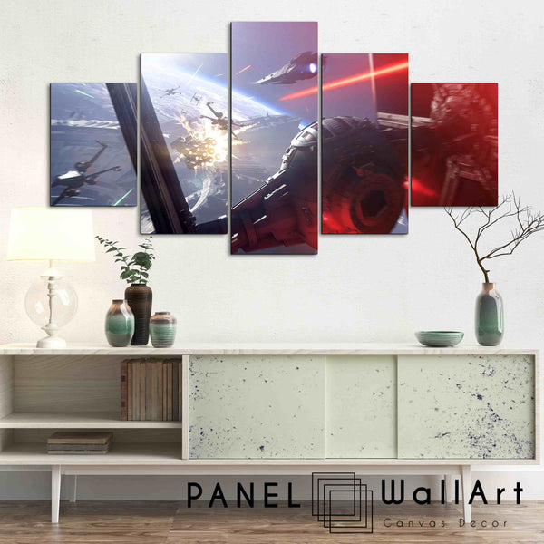 5 pieces star wars attacking canvas wall art panelwallart.com