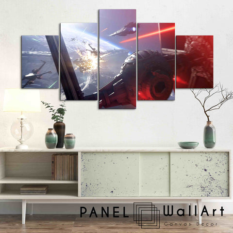 5-panel star wars canvas wall art