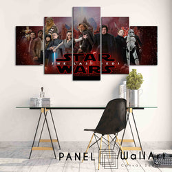 5 pieces star wars the last jedi kylo ren and rey canvas wall art panelwallart.com