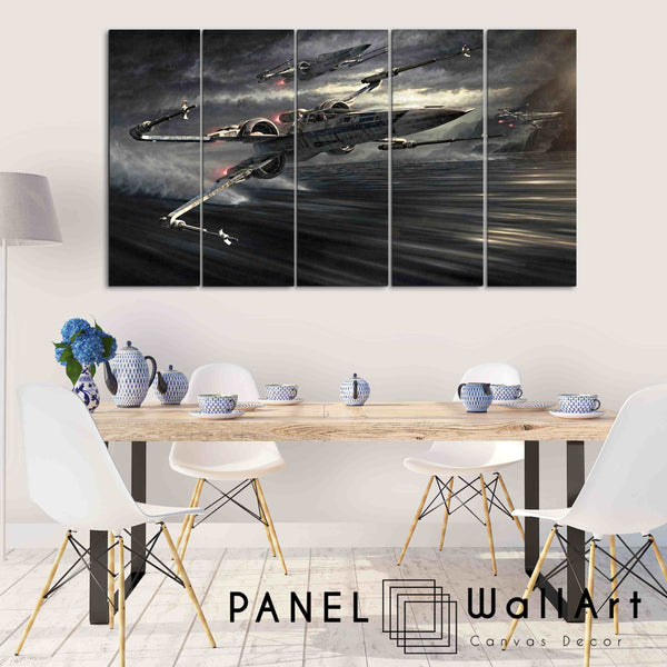 5 piece star wars canvas wall art may the force be with you