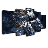 5 panel Fading Stormtrooper star wars canvas wall art