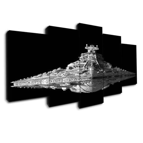 5 panel star destroyer canvas wall art