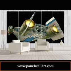 5 panel canvas wall art of A-Wings Fighter