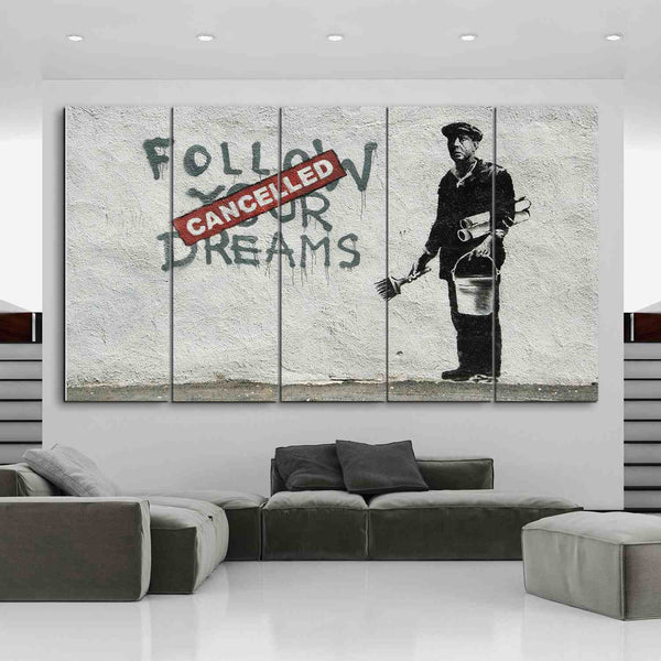 5 panel graffiti wall art canvas by panelwallart.com