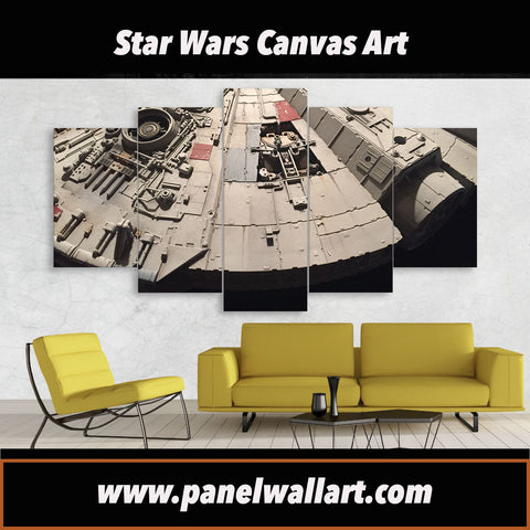Edge of Millennium Falcon | Black Friday Cyber Monday Sale | Panel Wall Art Canvas