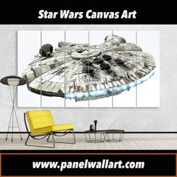 6 panel Star Wars canvas art Millennium Falcon