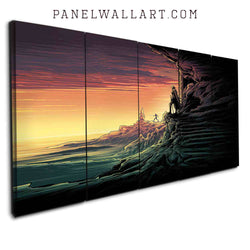 5 star wars canvas prints panel wall art Skywalker and Rey from The Last Jedi