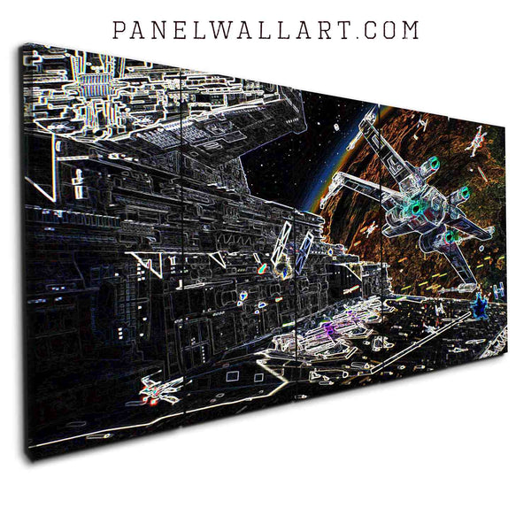 5 star wars canvas prints panel wall art Spaceships from Star Wars Battlefront