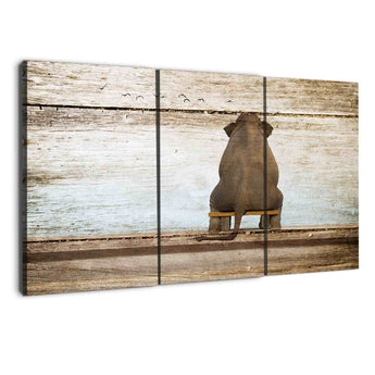 amazon albyden art - triptych elephants wall art canvas sold at panelwallart.com