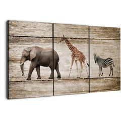 amazon 3 panel elephants wood canvas wall art by albyden art at panelwallart.com