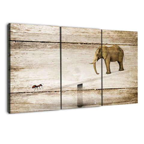 albyden art - triptych elephants wall art canvas sold at panelwallart.com