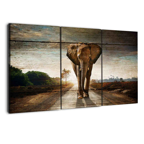 albyden art - 3 panel elephants wall art canvas sold at panelwallart.com