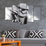 Star Wars White Troopers in Action  - panelwallart.com