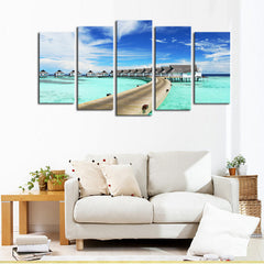 5 panel bungalow resorts in Maldive | PanelWallArt.com
